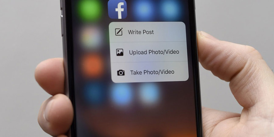 Facebook iOS Uygulaması 3D Touch Kullanım Alanını Genişletti