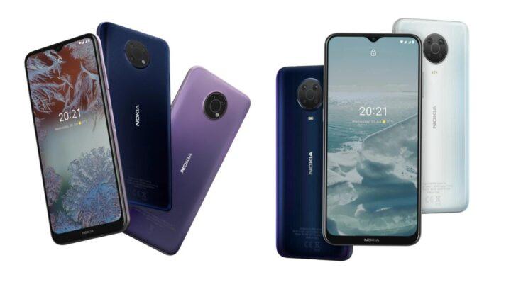 Nokia Yeni Telefonları G20 ve G10'nu Tanıttı
